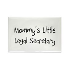 Mommy's Little Legal Secretary Rectangle Magnet
