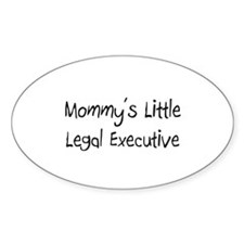 Mommy's Little Legal Executive Oval Decal