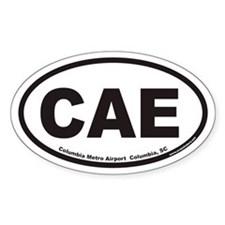 Columbia Metro Airport CAE Euro Oval Decal
