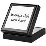 Mommy's Little Land Agent Keepsake Box