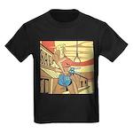 Sexy Western Cowgirl Pop Art Kids Dark T-Shirt