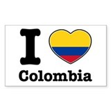 I love Colombia Rectangle Decal
