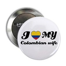 "I love my Colombian Wife 2.25"" Button (10 pack)"