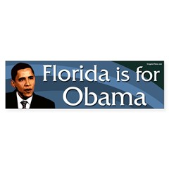Florida is for Barack Obama bumper sticker