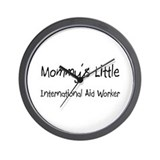Mommy's Little International Aid Worker Wall Clock