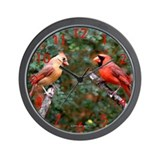 Two Cardinals Wall Clock