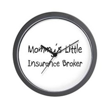 Mommy's Little Insurance Broker Wall Clock
