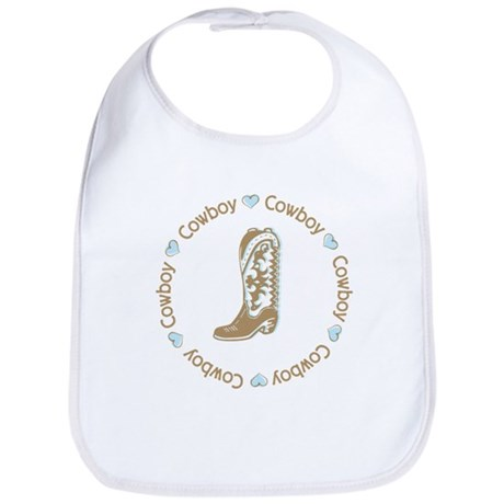 Sweet Cowboy Blue Boot Bib