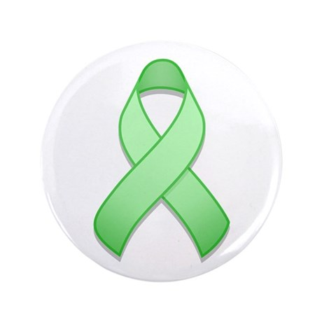 "Light Green Awareness Ribbon 3.5"" Button"