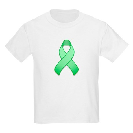 Light Green Awareness Ribbon Kids Light T-Shirt