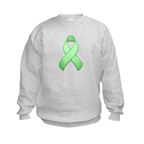 Light Green Awareness Ribbon Kids Sweatshirt