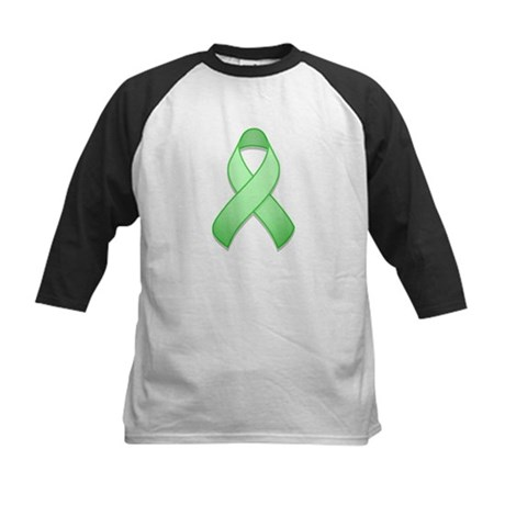 Light Green Awareness Ribbon Kids Baseball Jersey