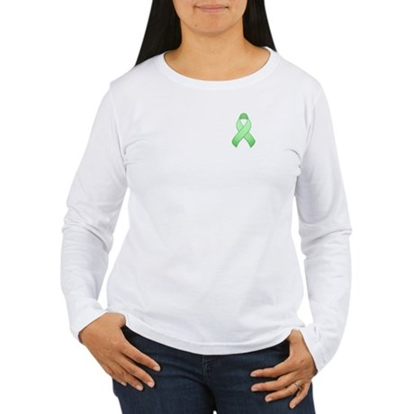 Light Green Awareness Ribbon Women's Long Sleeve T