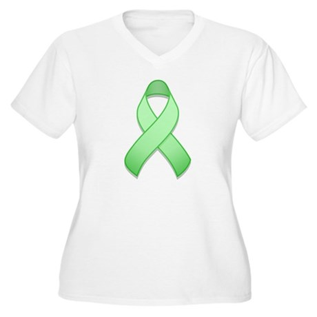 Light Green Awareness Ribbon Women's Plus Size V-N