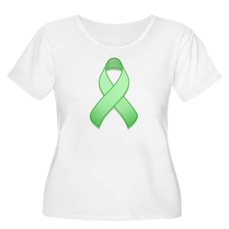 Light Green Awareness Ribbon Women's Plus Size Sco