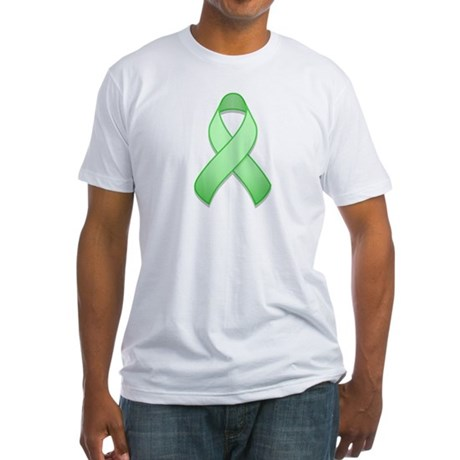 Light Green Awareness Ribbon Fitted T-Shirt