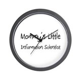 Mommy's Little Information Scientist Wall Clock