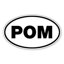POM Oval Decal