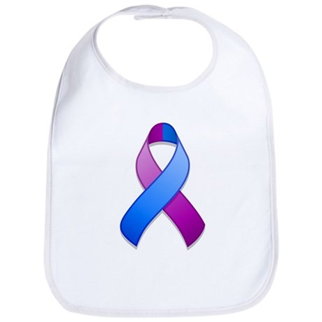 Blue and Purple Awareness Ribbon Bib