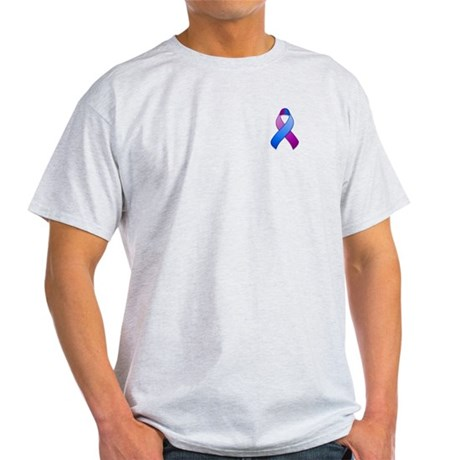 Blue and Purple Awareness Ribbon Light T-Shirt