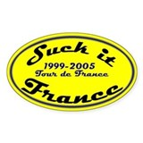 Suck it France oval sticker