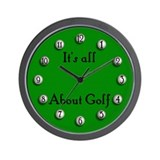 It's All About Golf Wall Clock