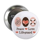 "Peace Love Lifeguard 2.25"" Button 10 Pack"