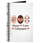 Peace Love Lifeguard Lifeguarding Journal