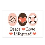 Peace Love Lifeguard Lifeguarding Postcards 8 Pack