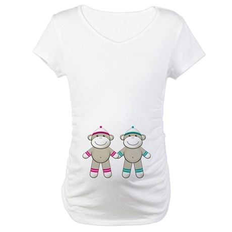 TWINS Boy Girl Maternity T-Shirt