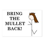 BRING THE MULLET BACK Postcards (Package of 8)