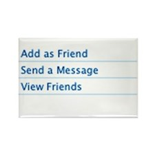 Add as Friend Rectangle Magnet