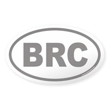 BRC Ticker Symbol Oval Decal