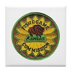 Kansas Game Warden Tile Coaster