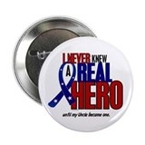 "Never Knew A Hero 2 Military (Uncle) 2.25"" Button"