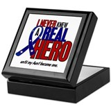 Never Knew A Hero 2 Military (Aunt) Keepsake Box