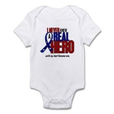 Never Knew A Hero 2 Military (Aunt) Infant Bodysui