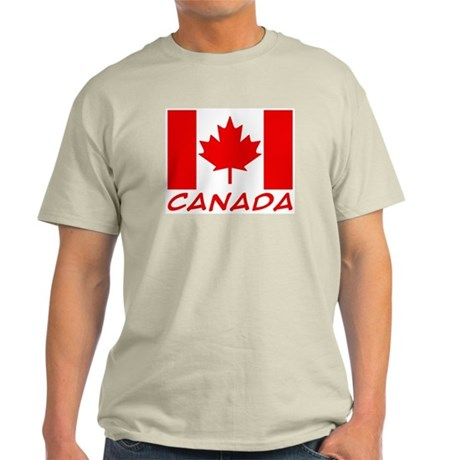 Canadian Flag Ash Grey T-Shirt