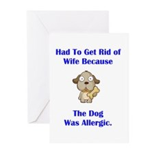 Got Rid of Wife (dog) Greeting Cards (Pk of 20)