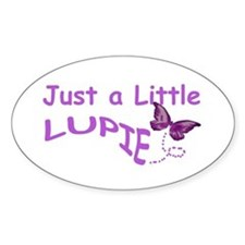 A Little Lupie Oval Stickers