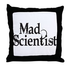 Mad Scientist Throw Pillow