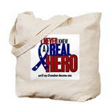 Never Knew A Hero 2 Military (Grandson) Tote Bag