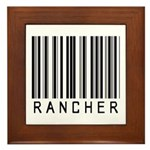 Rancher Barcode Framed Tile