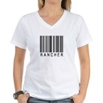 Rancher Barcode Women's V-Neck T-Shirt