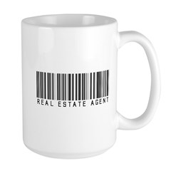 Real Estate Agent Barcode Large Mug