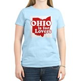 Ohio is for Lovers Women's Pink T-Shirt
