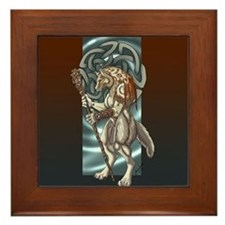 Celtic Wolfen Framed Tile