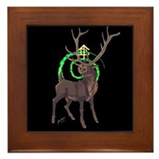 Owl Stag Framed Tile