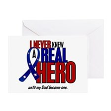 Never Knew A Hero 2 Military (Dad) Greeting Card