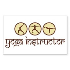 Yoga Instructor Rectangle Sticker 10 pk)